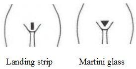 landing strip martini glass