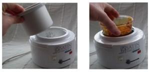 sugar paste heater